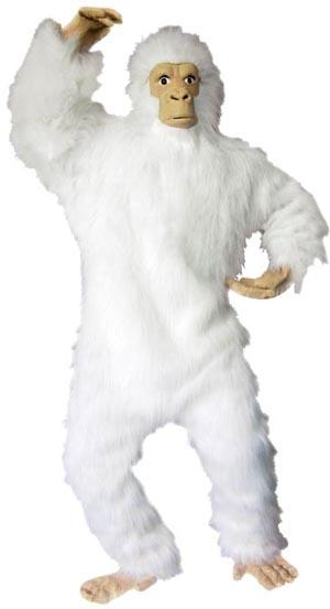 White Gorilla Suit Costume